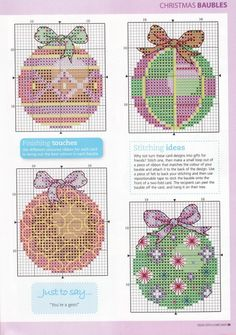 Cross-stitch Christmas Ornaments, part 2.. color chart on part 3...    Gallery.ru / Photo # 3 - 4 - irinika