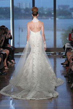 gorgeous gossamer train. #inesdisanto #couturegown #fashion