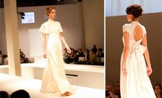 Tammam bridal - sustainable, animal-friendly, fair trade, and ethical. Love the dress on the right! The back is beautiful.
