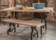 Set Of 4 Rustic Table Leg Base Cast Iron Industrial Antique Dining Bench