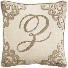 Script Monogram Pillow - Champagne Z