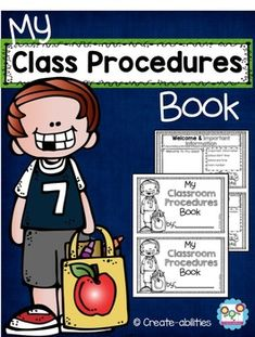 classroom procedures book, class procedures, back to school, This Classroom Procedures Little Book is a fun and unique way to help your parents learn about your classroom. There are 41 different pages in regular and EDITABLE forms. That means you can either write or type directly onto the pages!This book is great for Back to School week or the first day of school!Included in this download are pages that cover: Procedures Lists Book Cover Welcome and Contact Info All About Me (2 versions)