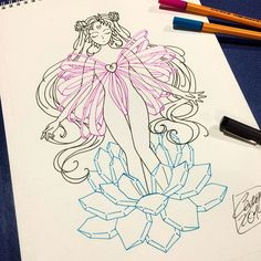 Ready for color  #sailormoon #tattoo #design #ink #draw #cute #cutetattoo…