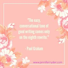 Happy Words of Wisdom Wednesday! This week's quote is from Paul Graham and it couldn't be truer. When something is easy to read, and dialogue flows seemingly effortlessly this is as a result of re-writing, re-reading and re-writing. A vicous circle, but eventually the result of that hard work shines through. #WordsOfWisdomWednesday #AuthorLife #authorquotes
