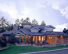 Craftsman Prairie Style Southwest House Plan 43205....... Really need to start playing lotto