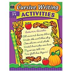 Cursive Writing Activities is designed to help students master important handwriting skills. The book provides a variety of activities that allow students to practice letter formations as well as real