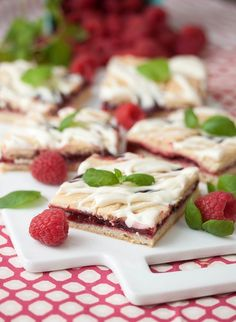 Frosted Raspberry Pie Bars