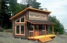 Small Cottage House Plans, Cottage Plan, Tiny House Cabin, Small House Plans, Cottage Homes, Backyard Cabin, Backyard Sheds, Modern Small House Design, Tiny House Design