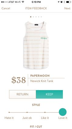 Adorable tank and great price! Could wear this all summer long.