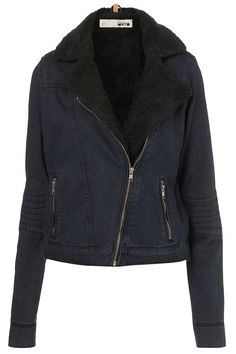Tall Borg Biker Jacket - New In This Week - New In - Topshop USA