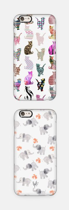 Cat iPhone Case & Elephant iPhone Case! Perfect Christmas gift idea! Available for iPhone 6, iPhone 6 Plus, iPhone 5/5s, Samsung Cases and many more.