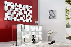 Wall Mirror Mirror [Multiplex] with bevelled edge & 55 mirror surfaces Home Design, Design Ideas, Interior Decorating Styles, Interior Design, Commode Design, Spiegel Design, Mirrored Furniture, Interior Architecture, Designer
