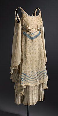 ~Léon Bakst Ballet Costume for a nymph, circa 1912: silk chiffon, lamé, metallic ribbon, and cotton~