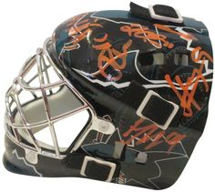 2011-2012 San Jose Sharks Team Autographed Mini Hockey Goalie Mask, Proof. This is a brand-new 2011-2012 San Jose Sharks team signed Franklin mini hockey goalie mask.The following Sharkssigned the helmetin orangepaint pen: Head Coach Todd Mclellan, Antti Niemi, Patrick Marleau, Logan Couture, Ryane Clowe, Martin Havlet, Torrey Mitchell, Thomas Greiss and Jim Vandermeer for a total of 9 signatures on this beautiful team signed mask from your 2011-2012 San Jose Sharks.Check out the…