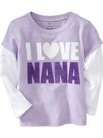 """""""I Love Nana"""" 2-in-1 Tees for Baby"""