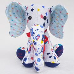 Brand new addition to our range, how we make our Memory Elephant keepsake One Clothing, Clothing Items, Lily Grace, Personalized Baby Gifts, Baby Grows, Sewing Tutorials, Machine Embroidery, Keepsakes, Craft Projects