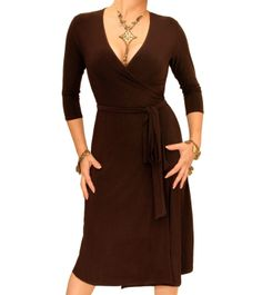 Blue Banana - Elegant Slinky Wrap Dress           ($54.99) http://www.amazon.com/exec/obidos/ASIN/B006A8GV9U/hpb2-20/ASIN/B006A8GV9U Maybe it would be better if it were the correct size. - The size is correct, fits me perfectly and this wrap dress is very flattering. - The package was great as well as the timining got to me quickly.