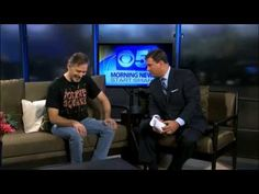 Attila Juhasz, creator of Zombie Squash starring George A. Romero,  stopped by the Arizona CBS news office this morning for a great on air-segment.
