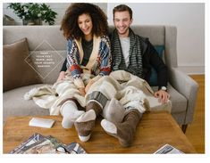 Wool Socks Pajamas Comfy Cute Couple Blanket Snuggle Lifestyle Photography Ad © tru-studio.com