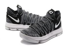 release date: 1aaa4 2bd7a Cheapest 2018 KD X NIKE black and white Flyknit EUR 40-47
