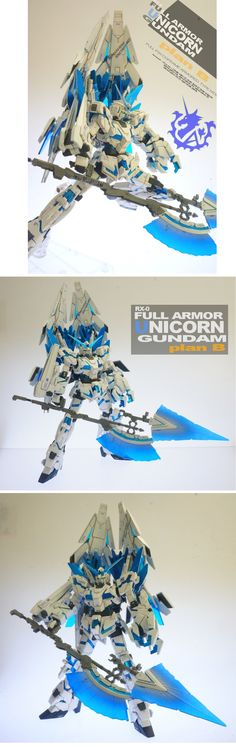 HGUC 1/144 Full Armor Unicorn Gundam Plan B: Work by kmp_style0512 Photoreview Hi Res Images http://www.gunjap.net/site/?p=210946