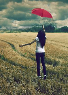 The Red Umbrella by `larafairie on deviantART. Also one of our greatest fears!