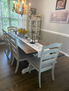 Dining Chairs, Dining Table, Farmhouse Table, Woods, Tables, Furniture, Home Decor, Mesas, Decoration Home