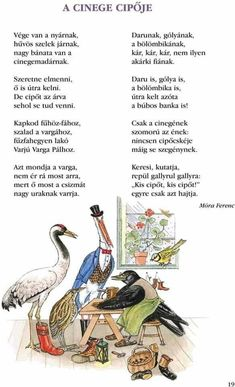 Móra Ferenc - A cinege cipője Stories For Kids, Kindergarten, Preschool, About Me Blog, Techno, Songs, Retro, Reading, Animals