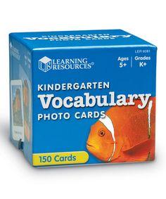 Another great find on #zulily! Kindergarten Vocabulary Photo Cards #zulilyfinds
