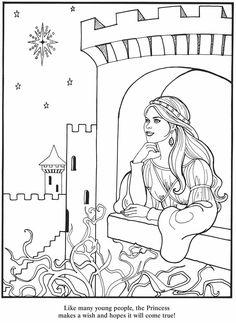 princess color page 3