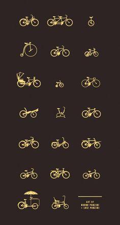 Some ideas for my bike tattoo. BIKES, by Bruno Ponzini & Luiz Ponzini Cycling Tattoo, Bicycle Tattoo, Bike Tattoos, Bicycle Art, Cycling Art, Cycling Bikes, Tatoos, Logo Velo, Bike Logo