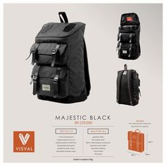 "Meet Majestic, a backpack for your everyday adventures, bringing together classic rugged styling & faux leather details. It's completed with internal 14 inch laptop sleeve and double front zippered pocket. Specification: Dimensions: 44 x 26 x 16 cm Fabric: Poly-Fabric / Faux Leather   Details Nice faux leather patch on top Internal padded sleeve fits 14"" laptop One large main compartment Double secondary pocket on the front Fully padded back panel Adjustable padded shoulder straps Availa..."