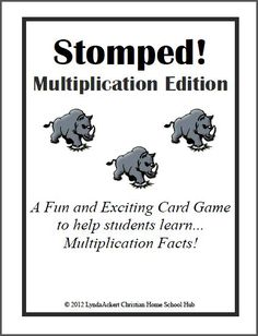FUN Multiplication Card Game... Download Club members can download @ http://www.christianhomeschoolhub.com/pt/Multiplication-Resources--Downloads/wiki.htm Not a Download Club member? Find out how to join and start saving @ http://www.christianhomeschoolhub.com/?page=basecmd=signup