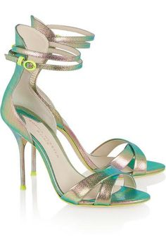 I'm crazy for you! J.Crew|+ Sophia Webster Nicole textured-leather sandals|NET-A-PORTER.COM #shoes #covetme