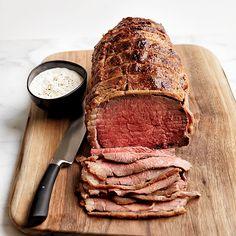 // Salt cure roast beef with horseradish cream