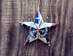 Upcycled PBR Pabst Blue Ribbon Beer Can Star by LicenseToCraft