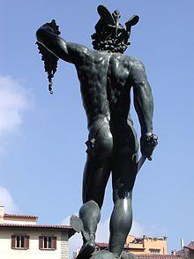 Perseo con la testa di Medusa -Perseo di schiena fusione spendida-FIRENZE