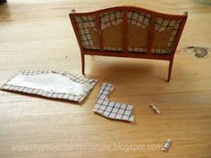 How to reupholster a miniature couch