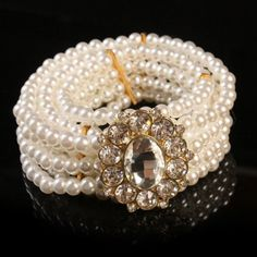 Gorgeous Pearl Rhinestone Buckle Waist Belt For Women, WHITE in Belts | DressLily.com $7.02