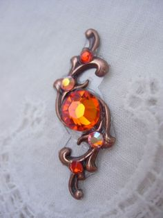 Tangerine Swirl Bindi  swarovski belly dance crystal by KuhlJewels, $12.00