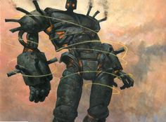 Darksteel Colossus by Carl Critchlow Magic the Gathering Card Artwork