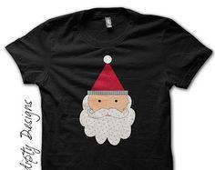 Santa Shirt - Boys Christmas Outfit / Toddler Christmas Shirt / Baby Santa Outfit / Kids Christmas Eve Pajamas / Newborn Girl Santa Tshirt