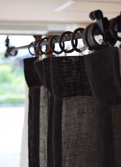 麻のカーテン スペイン産ブラック