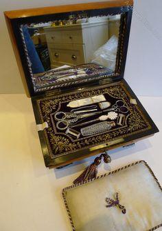 Antiques Atlas - Antique French Palais Royal Sewing Box C.1820