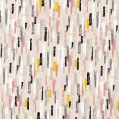 Line Up in Petal Pink by Eloise Renouf - 1/2 Yard Cloud 9 Collective Organic Cotton Fabric - Pink and Gray OE 100 Certified Organic Cotton