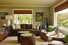 Brilliant Brown Living Room Ideas Living Room Color Ideas With Brown Furniture Home Decorating Ideas Living Room Green, My Living Room, Living Room Decor, Cozy Living, Living Colors, Brown Furniture, Leather Furniture, Leather Sofa, Wood Furniture