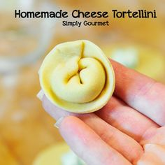 I just use this recipe for the filling - could still taste the texture of the ricotta - filling wasn't melty enough but good pasta Homemade Cheese Tortellini Homemade Tortellini, Tortellini Pasta, Tortellini Recipes, Gluten Free Tortellini, Homemade Pasta Recipes, How To Make Tortellini, Homemade Pasta Dough, Shrimp Pasta, Chicken Pasta