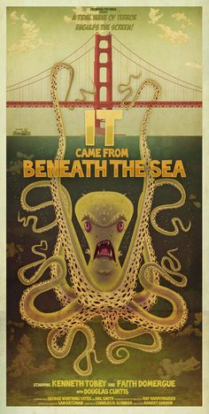 B MOVIE MONSTER POSTER SERIES by James Gilleard, via Behance