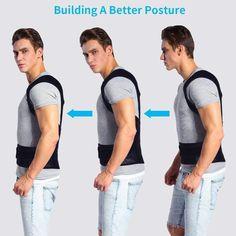 POSTURE CORRECTOR BRACE – ItShopTime Back Brace Posture Corrector, Posture Corrector For Men, Posture Correction Belt, Postural, Posture Support, Upper Back Pain, Muscle Memory, Neoprene, Unisex