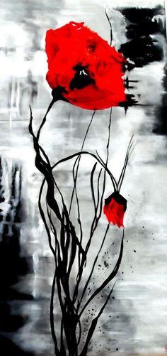 Awesome artwork. Artist unknown. Spring Painting, Spring Art, Remembrance Day Art, Red Artwork, Watercolor Poppies, Art Plastique, Beautiful Artwork, Art Pictures, Painting & Drawing